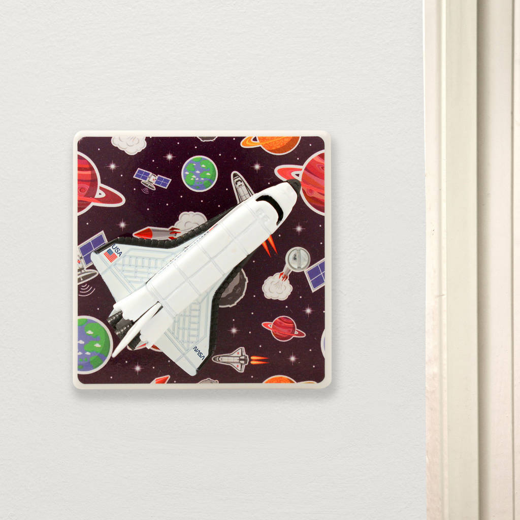 Outer Space Bedroom Rocket Light Switch