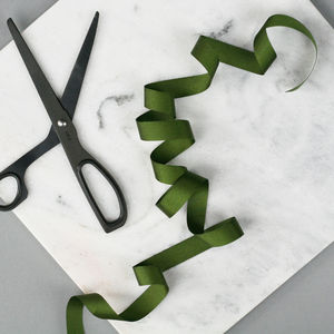 Moss Grosgrain Ribbon - wedding stationery