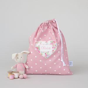 Personalised Spotty Laundry Bag