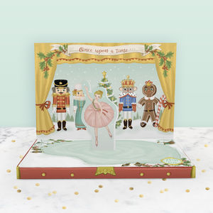 Nutcracker Music Box Christmas Card - cards