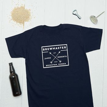 Personalised Craft Beer Brewmaster T Shirt