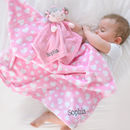 Personalised Baby Blanket And Dolly Comforter Gift Set