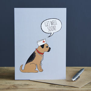 Border Terrier Get Well Card