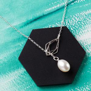 Diamond Freshwater Pearl Lariat Necklace - necklaces & pendants