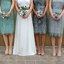 Lace Bridesmaid Dresses In Aqua Shimmer