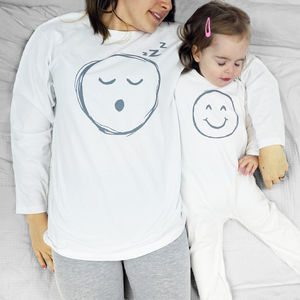 Baby Smiley Face Emoji Pyjama Mummy And Me - nightwear