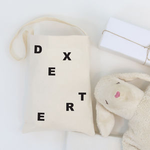 Kids Personalised Letter Bag With Name