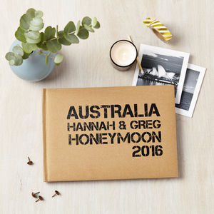 Personalised Honeymoon Photo Journal Album - best wedding gifts