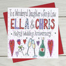 Personalised Daughter Or Son Wedding Anniversary Card