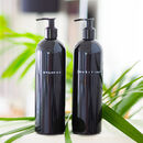 Personalised Stamped Label Black Refillable Bottle