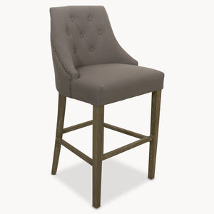 St James Padded Bar Stool With Studs