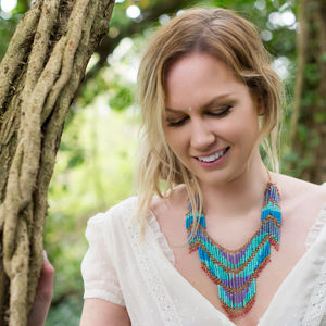 Bohemian Blue Cascading Necklace - necklaces & pendants