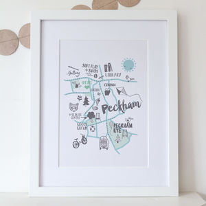 Personalised Peckham Map Print