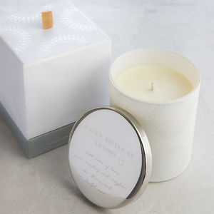 Personalised Rose Scented Message Candle - personalised gifts