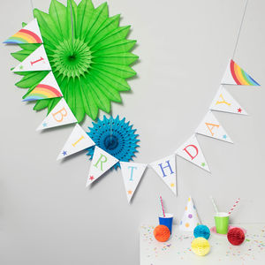 Personalised Rainbow Bunting - decoration