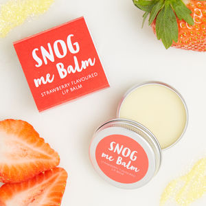 Snog Me Balm Strawberry Flavoured Lip Balm