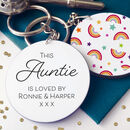 This Auntie Is Loved By Personalised Keyring
