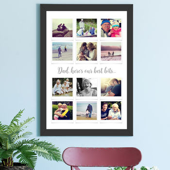 large black framed print
