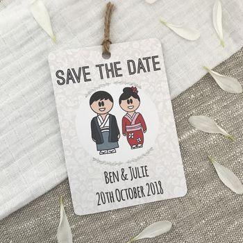Japanese Dress Save The Date Magnet