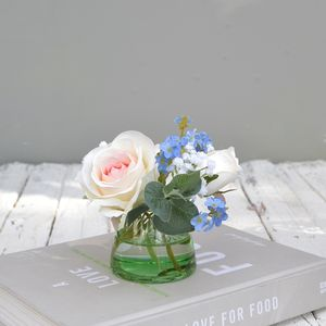 Bouquet In Green Vase - home accessories