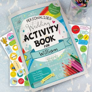 Wedding Personalised Childrens Activity Book - wedding day activities
