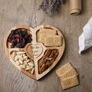 Love My Snacks Handcrafted Heart Tray