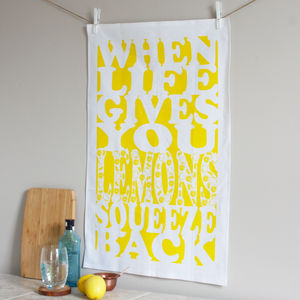 'Life Gives You Lemons' Tea Towel