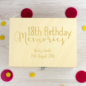 Personalised 18th Birthday Memories Keepsake Box - children's room accessories