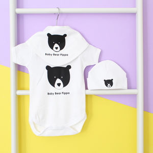 Personalised New Baby Gift Set, Baby Bear - children's accessories