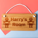 Personalised Robot Bedroom Door Sign