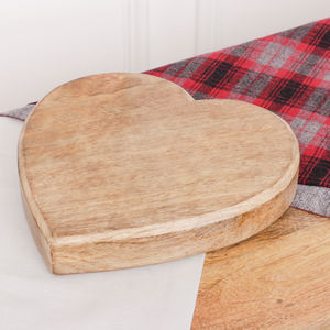 Wooden Heart Trivet - kitchen