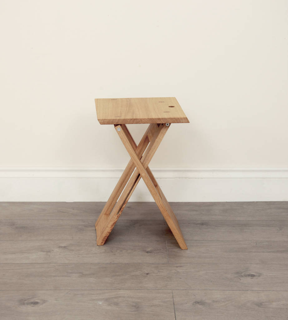 Wooden Folding Stool Or Side Table By Griffin And Sinclair