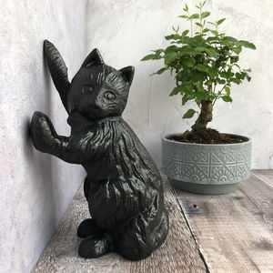 Black Cat Doorstop Ornament - door stops
