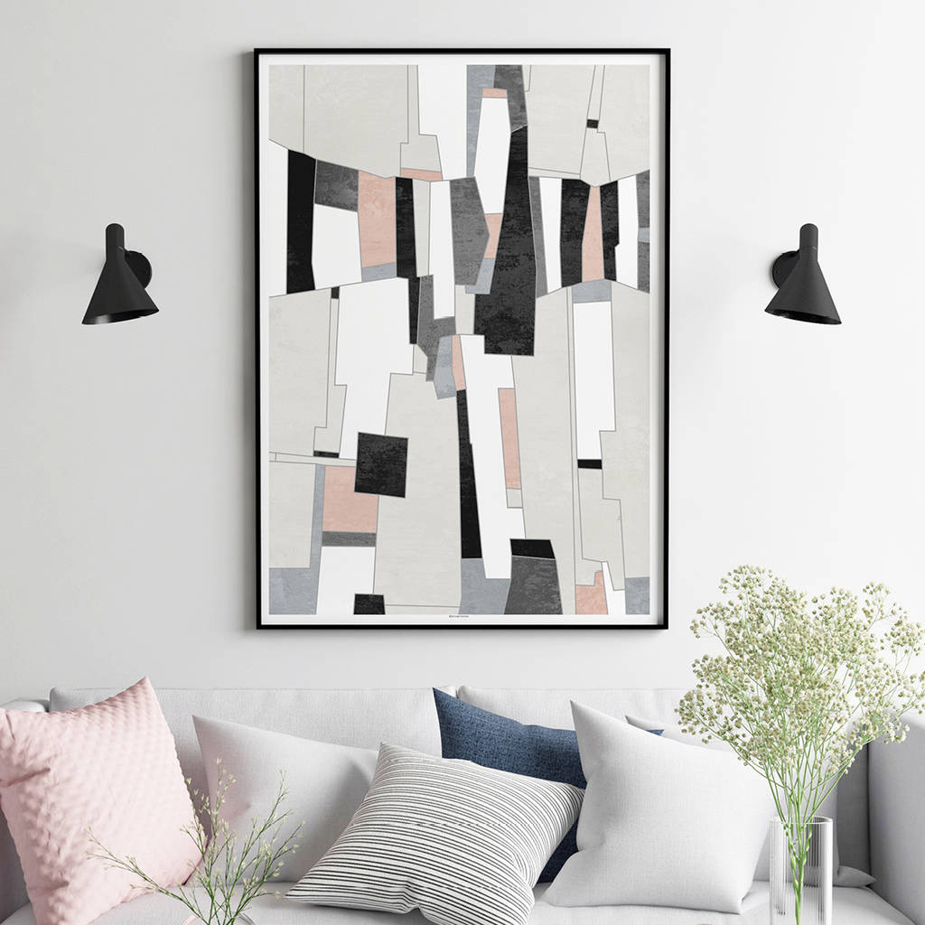 Abstract art print living room wall art by bronagh kennedy art prints - Wall paintings for living room ...