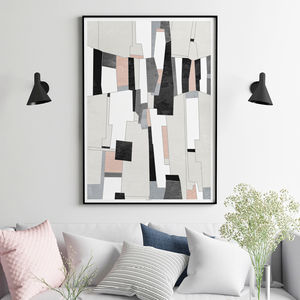 Abstract Art Print Living Room Wall Art - update your walls