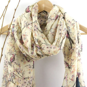 Birds And Trees Soft Scarf - view all sale items