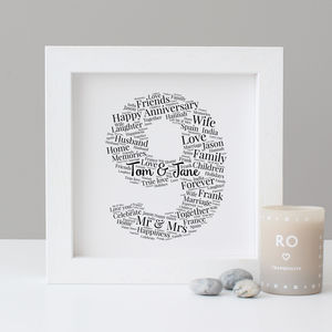Personalised 9th Anniversary Print