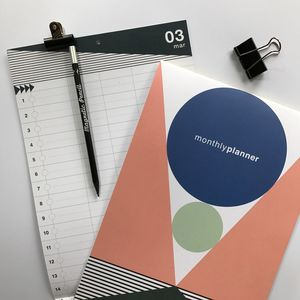 Monthly Planner : Start Any Time Calendar Pastel - 2018 calendars & planners