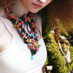 Garden Porcelain Floral Necklace - necklaces & pendants