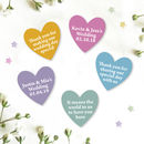 Personalised Heart Wedding Favours