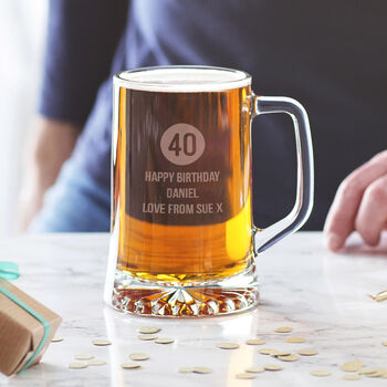 Personalised Special Age Birthday Tankard For Him