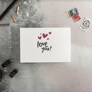 'Love You!' Letterpress Card - shop by category