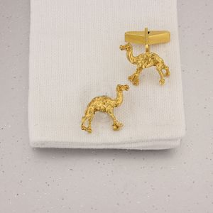 Camel Cufflinks In 9 Ct Gold Vermeil - new in fashion