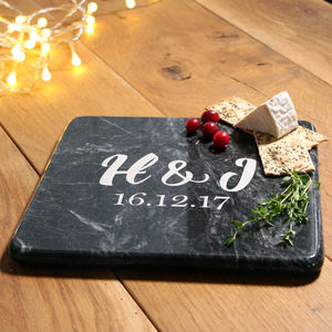 Marble Personalised Serving Board With Monogram