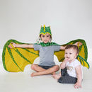 Green Dragon Wing And Hat Set
