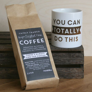 Personalised 'Totally Do This' Coffee And Mug Set