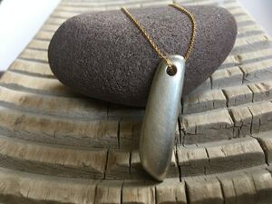 Infinity Long Silver Heavy Pendant On Gold