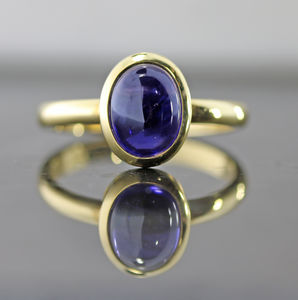 Iolite Cabochon Ring - view all fine jewellery