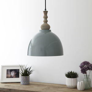 Blue Enamel Ceiling Pendant Light - pendant lights