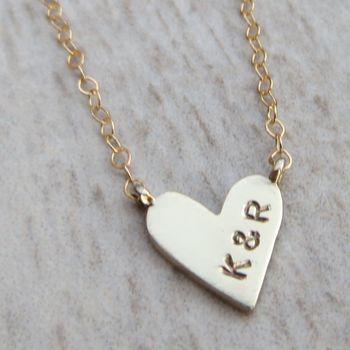 Embossed Baby Heart Necklace